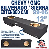 Chevy Silverado GMC Sierra Ext Extended Cab Truck 12 Sub Box Subwoofer Enclosure