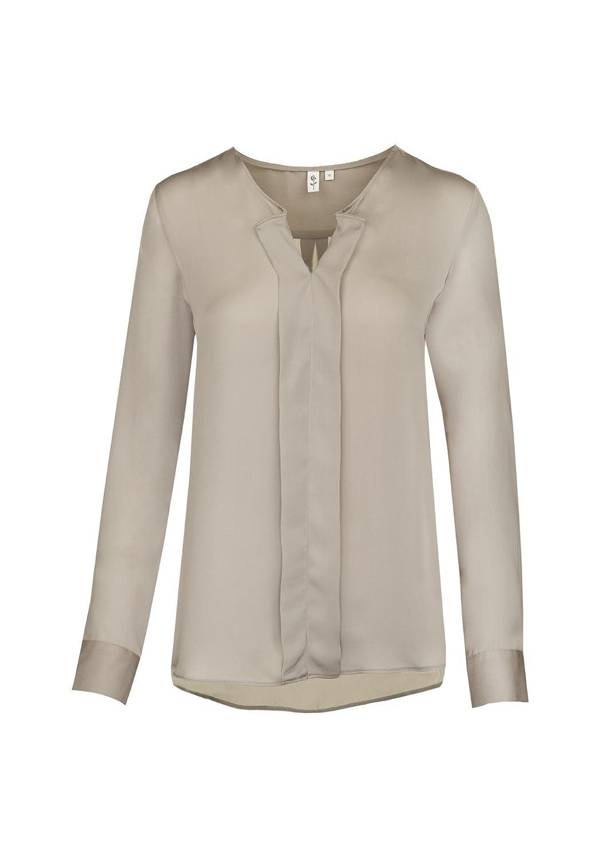Seidensticker - Schwarze Rose - Damen Fashion-Bluse 1/1-lang in verschiedenen Farben (60.120262), Größe:44;Farbe:Taupe (25)