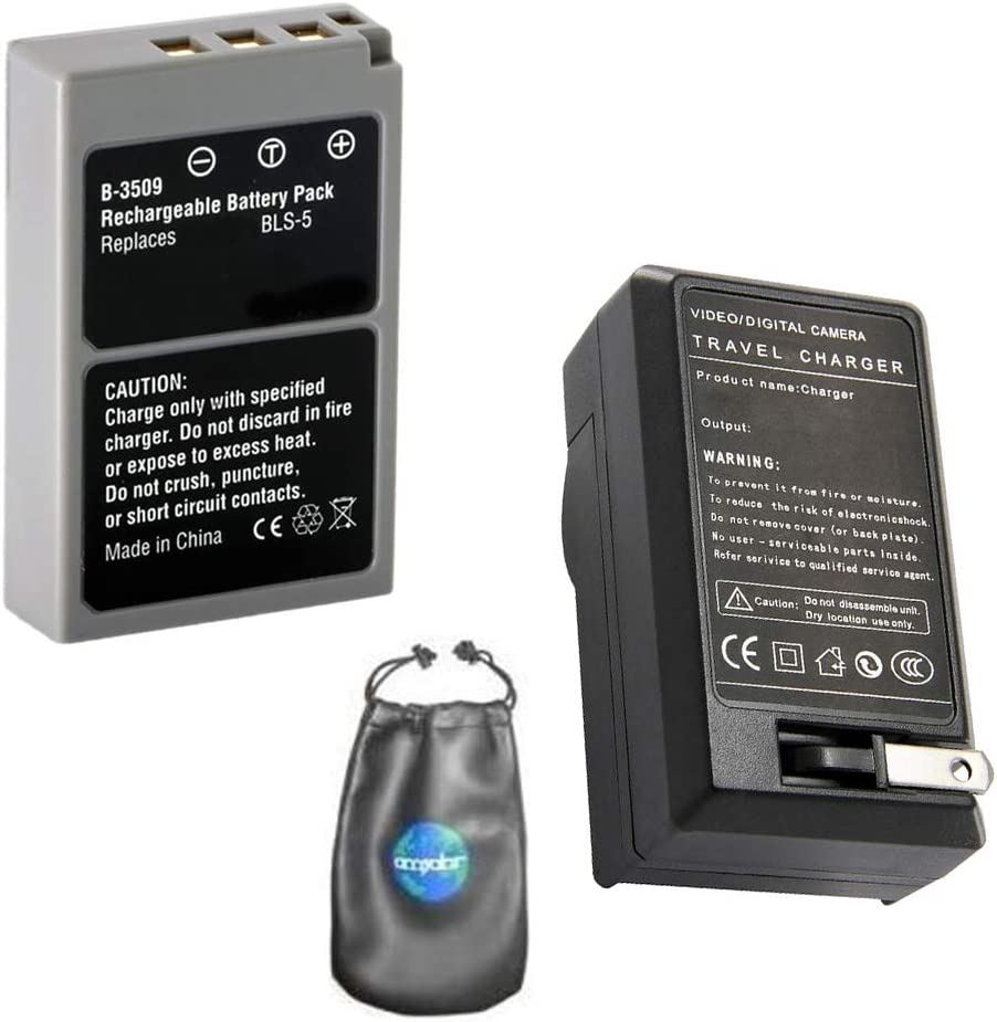 OM-D Amsahr Digital Replacement Camera and Camcorder Battery for Olympus BLN-1 E-M5
