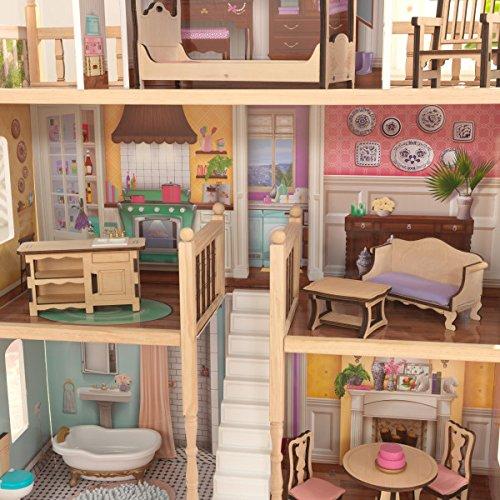 KidKraft 65956 Maison de poupée Charlotte avec maisons de poupées à assembler Ez Kraft, multicolore