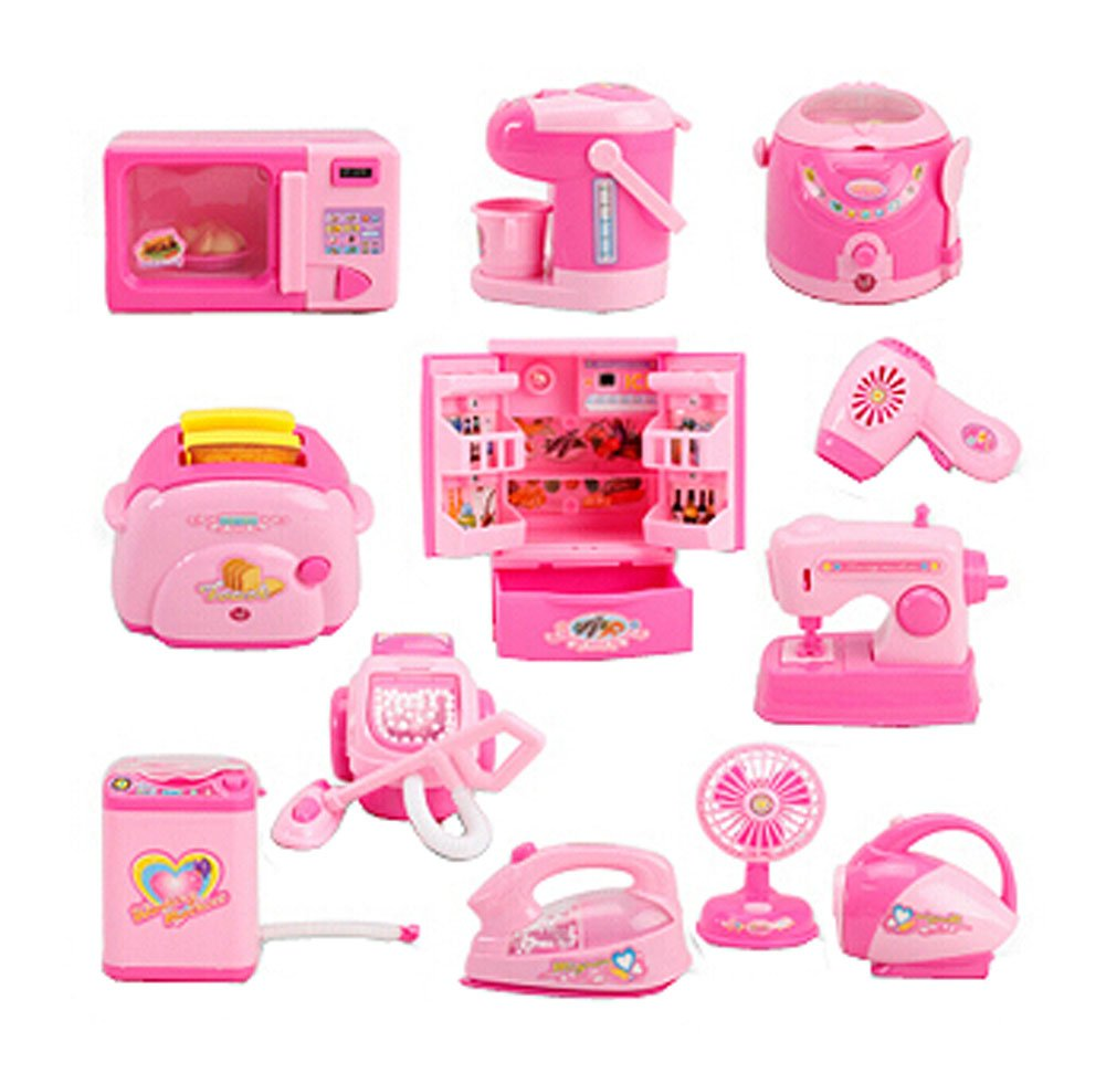 Set of 12 Mini Edition Lovely Home Appliances Model Toys Kids Play Toys PANDA SUPERSTORE PS-TOY255238011-RAY00306