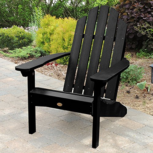 Highwood AD-CLAS1-BKE Classic Westport Adirondack Chair, 29.75W x 34.5D x 39.5H in. in, Black