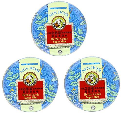 Nin Jiom Herbal Candy- 3 Tins (Mint)
