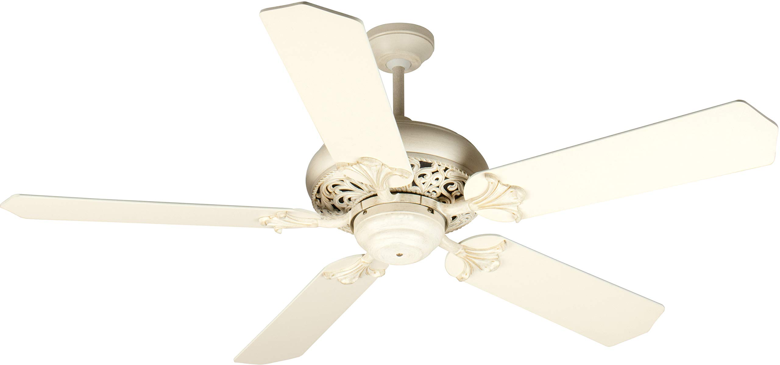 Craftmade K10325 Mia 52'' Ceiling Fan with CFL Lights and Pull Chain, Antique White Distressed