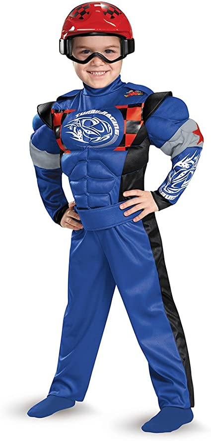 Turbo Racer Race Car Driver Motorcycle Fancy Dress Up Halloween Child Costume