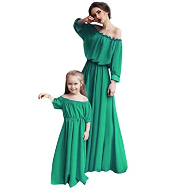 d3e7211b153 Amazon.com  Sunward Mommy and Me Maxi Long Beach Dress