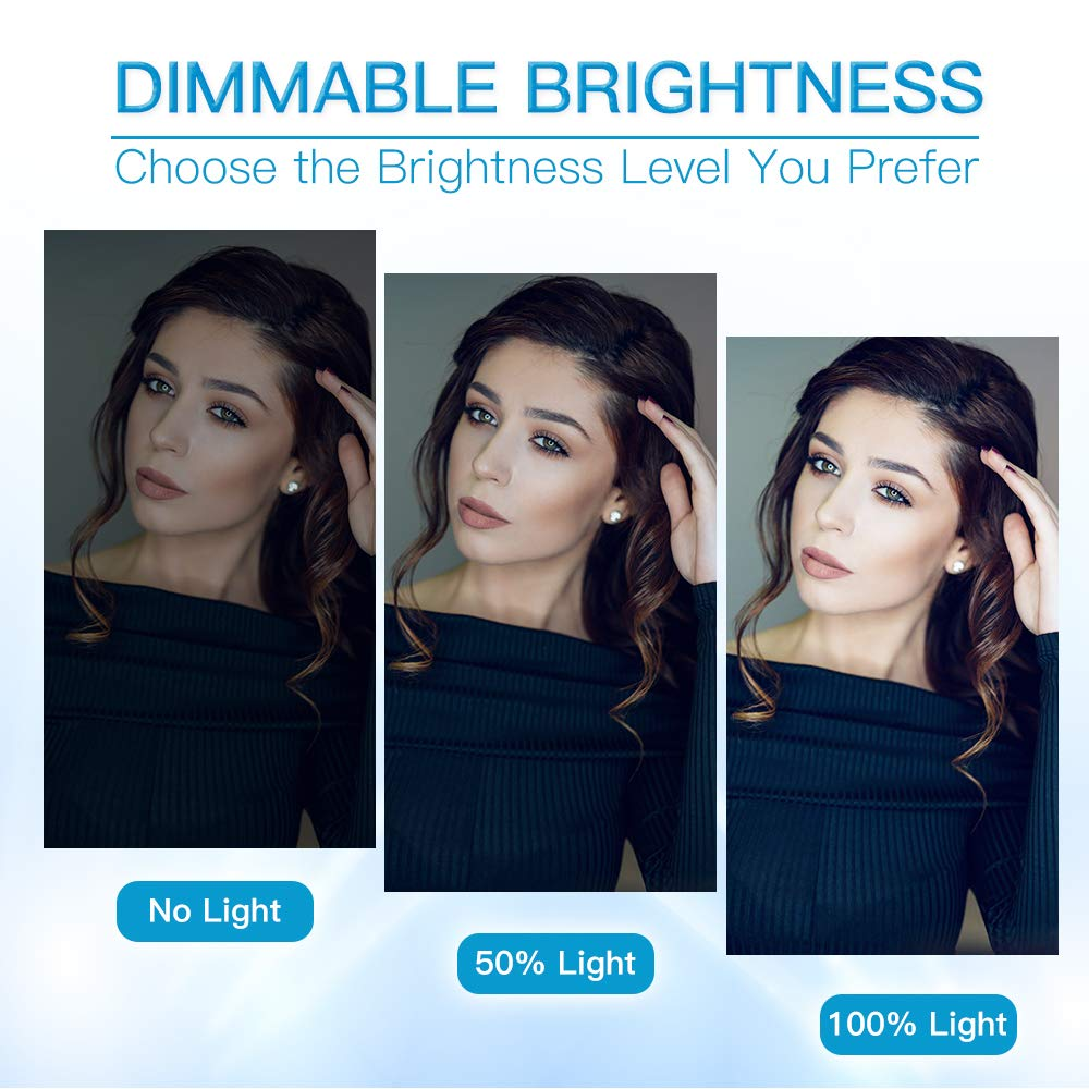 Self-Portrait Shooting ZOMEi 14 Dimmable Ring Light Makeup Lighting Light Stand Carrying Bag for Camera Smartphone YouTube
