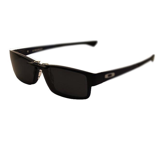 Custom Polarized Clip On Sunglasses for Oakley Airdrop 55 OX8046 55-18-143 (Black)