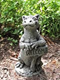 Little Darling Dragon Baby 'Grinsey' – Solid Cast Stone Garden Statue – a Great Home or Garden Gift Idea – Durable, Lifelike Sculpture – Fun Exterior and Interior Art For Sale