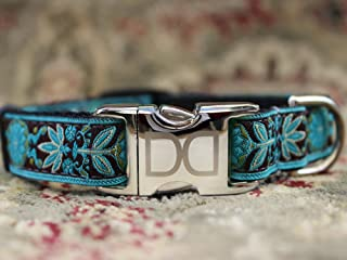 product image for Diva Dog UBS37 Boho Peacock Dog Collar - Extra Large Sized