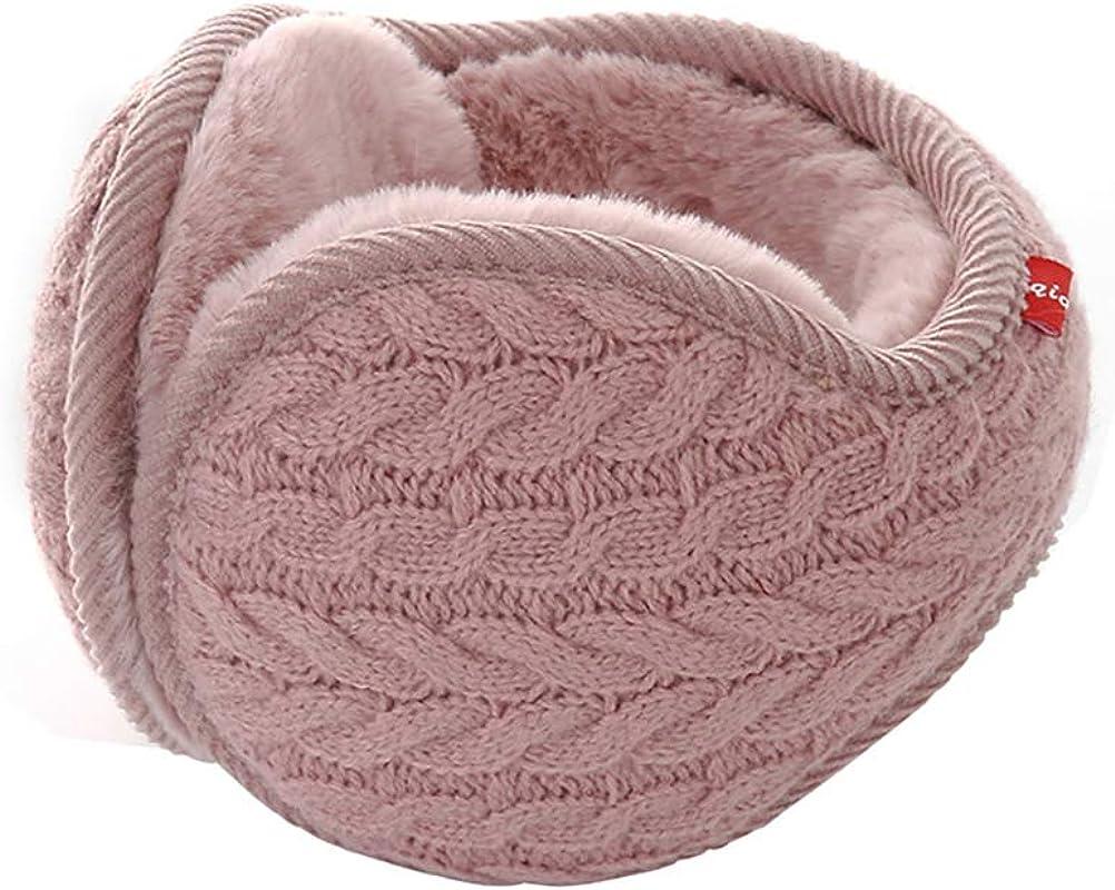 RUYA Unisex Winter Warm Earmuffs Behind the Head Ear Muff Fleece Ear Warmers