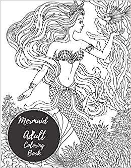 Amazon Com Mermaids Adult Coloring Book Large Stress Relieving
