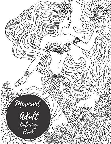 Mermaids Adult Coloring Book Relaxation product image