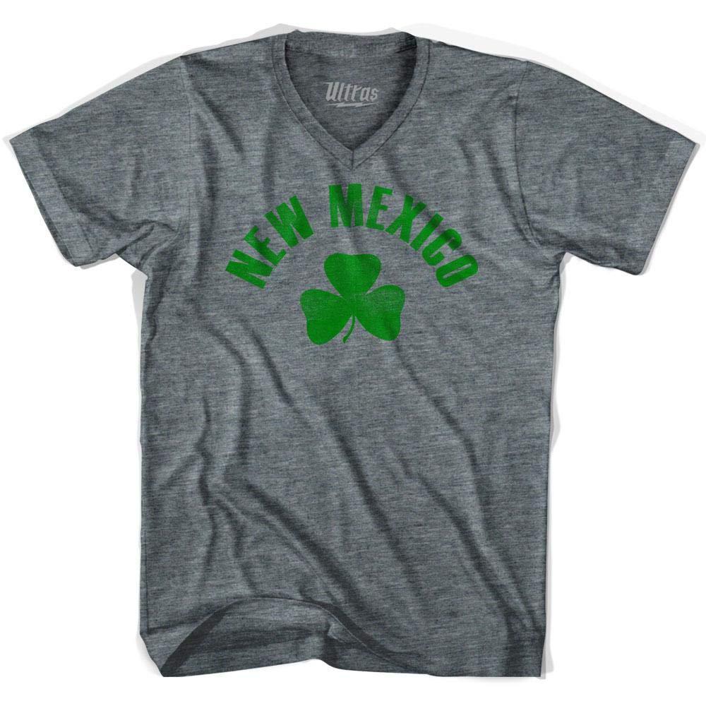 New Mexico State Shamrock Tri-Blend V-Neck T-Shirt