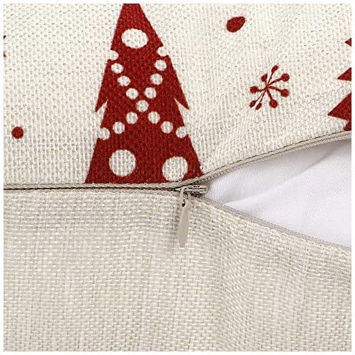 Christmas Farmhouse Home Decor ZJHAI Christmas Pillow Covers 18×18 Inch Set of 4 Farmhouse Pillow Covers Holiday Rustic Linen Pillow Case for Sofa… farmhouse christmas pillow covers
