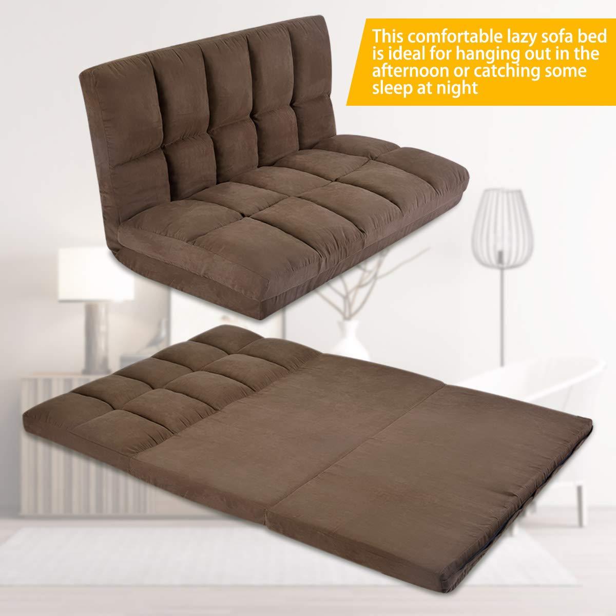 Amazon.com: Merax Adjustabale Sofá cama de suelo, sofá para ...