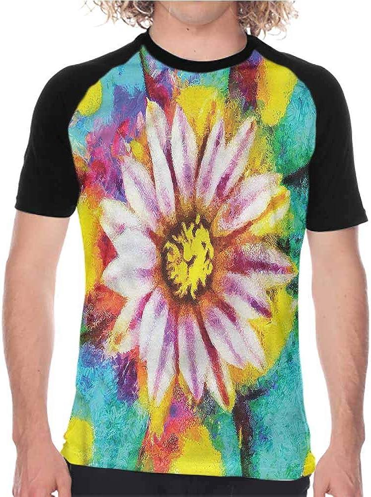 Houselife Psychedelic,Baseball Shirt Mandala Boho Hippie,Mens Casual Slim Fit Short Sleeve