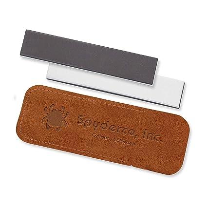Amazon.com: Spyderco doble bolsa de cosas con Fine/Mediano ...