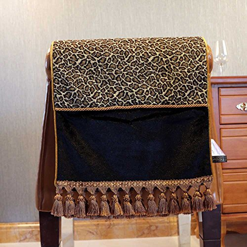 Leopard Pattern Table Runner American / European Black