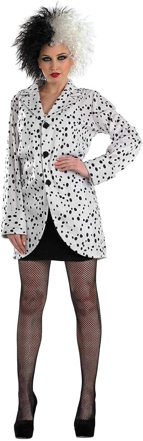 Fun Shack Blanca Chaqueta Dálmata Disfraz para Mujeres