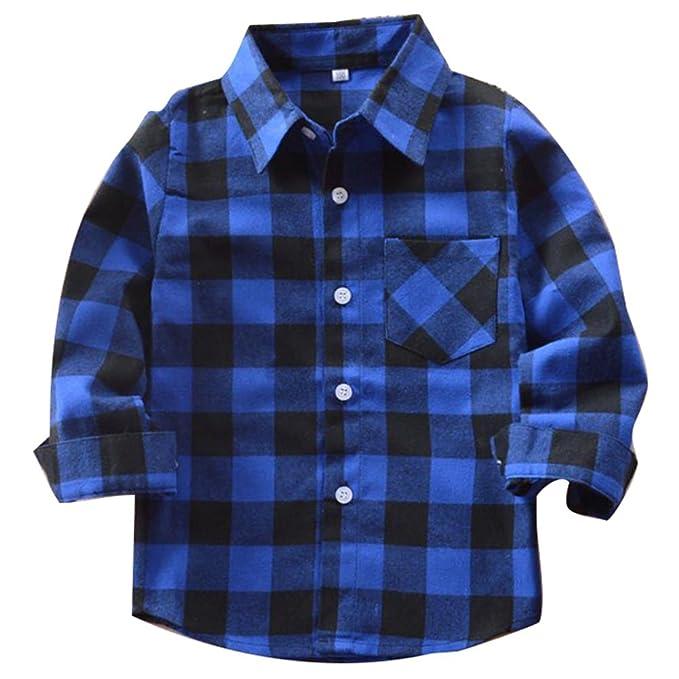 Meedot Camisas Niños Niñas T-Shirts Cuadros Abrigos Cuadros Bebé Blusas Otoño Tops Primavera por 2-14 Años: Amazon.es: Ropa y accesorios