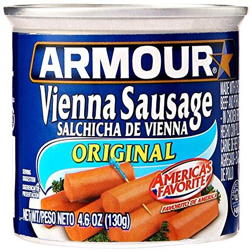 Armour Vienna Sausage, Original, 4.6 oz, 6 (Armour Sausage)