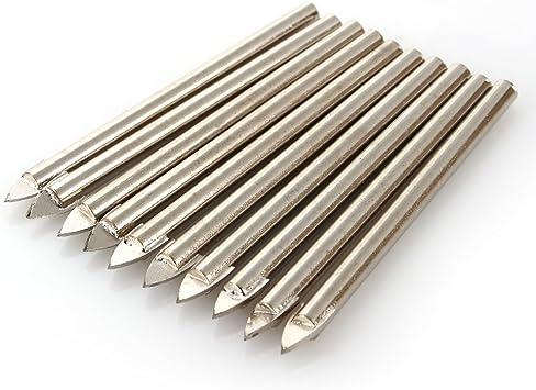 10PCS 6mm Spear Head Tungsten Carbide Steel Glass Tile Mirror Ceramic Drill Bits