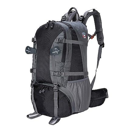 Mochila impermeable de 40 litros, paquete de viaje al aire libre unisex Bolsa de montar