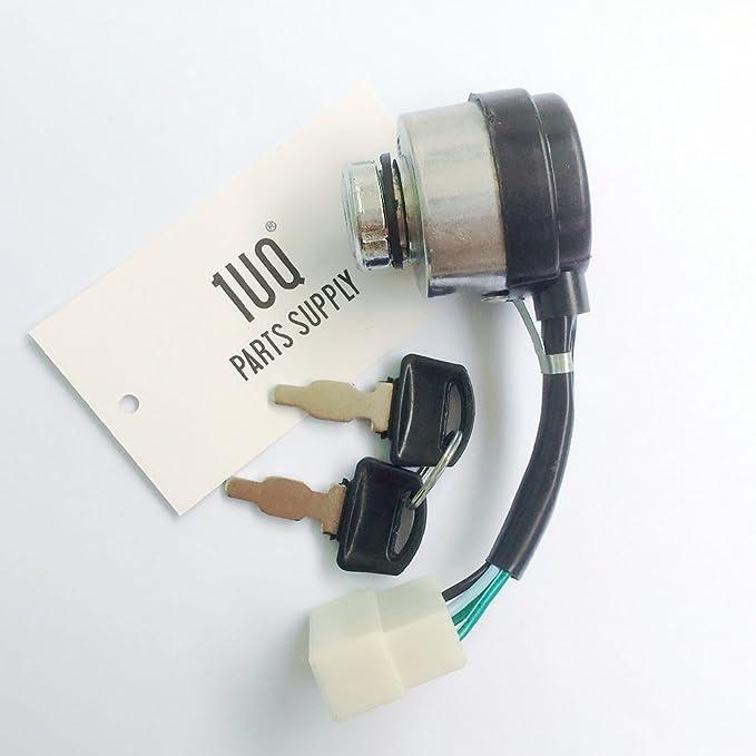 Amazon.com : 1UQ Electric Start Switch Ignition Key Switch ... on