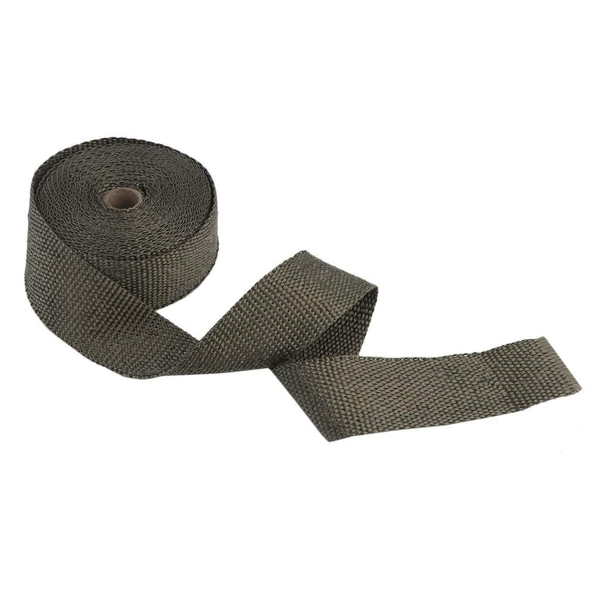 32.8ft 2 ST/ÜCKE Titan Auspuff Wrap Shield Schutzband feuerfeste Isolierband 20 St/ück Metall Ring Schleife W/ärmeschutzband 10 Meter