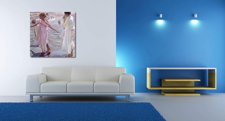 Joaquin Sorolla - La Hora del baño - 80x80 cm - Impresión en ...