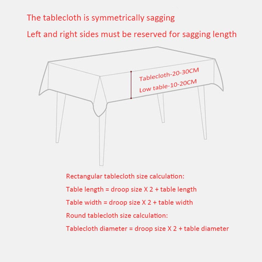 JIAO ES de Mantel de PVC Mantel Redondo de ES Mesa Mantel de Cena Continental Mantel Continental Mantel Impermeable Anti-Aceite Anti-Aceite Antiestático Fácil de Limpiar (Color : A, Tamaño : 130cm) 98790b