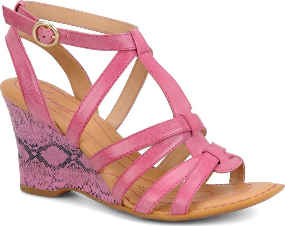 Born Crown Yulia T-Strap Sandals B00EI45SK6 7 B(M) US Fuxia Veg