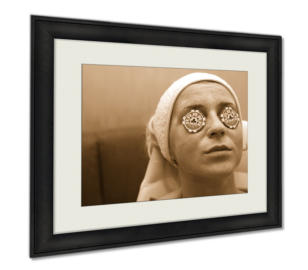 Ashley Framed Prints Chips As Cucumbers, Wall Art Home Decoration, Sepia, 34x40 (frame size), AG6479920