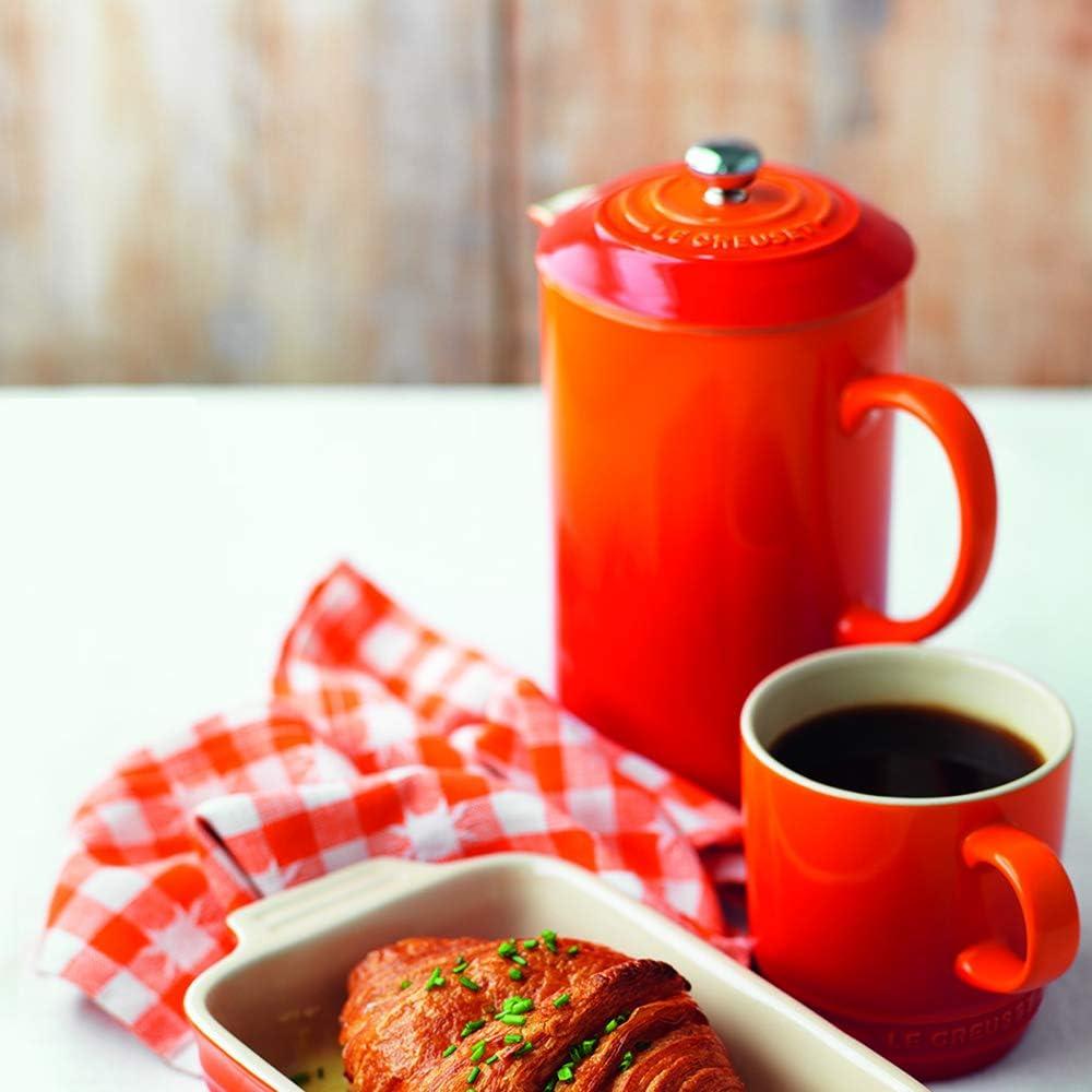 Le Creuset Stoneware Cafetiere Volcanic Orange