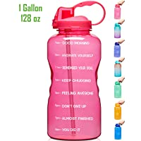 Venture Pal Large 1 Gallon/128 OZ (When Full) Motivational BPA Free Leakproof Water...