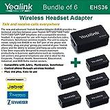 Yealink EHS36 - Bundle of 6 IP Phone Wireless Headset Adapters