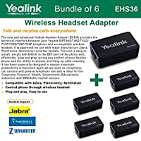 Yealink EHS36 - Bundle of 6 IP Phone Wireless Headset Adapters