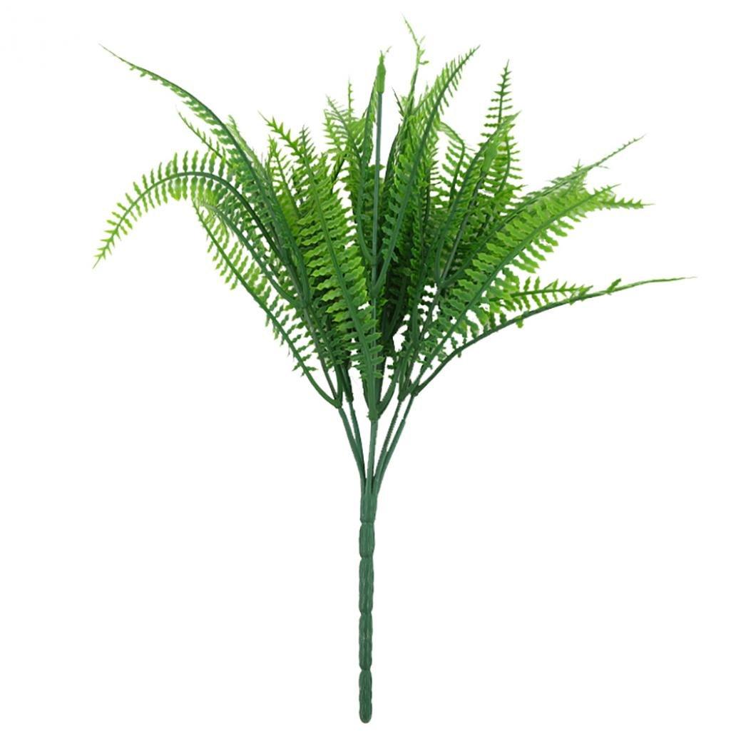 yamalans 7分岐ペルシャリーフ人工プラスチックグリーン植物ホームオフィスデスク装飾 One Size グリーン 4057610HDEURHAYVDVTTYGU0 B07DN6WHMG グリーン