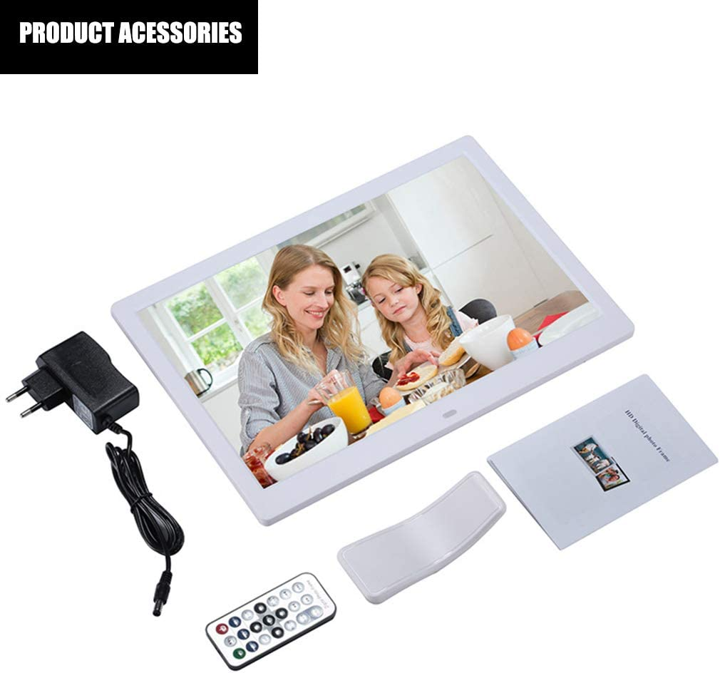 SD//MMC//MS Card,White LED Screen Full HD 1280800 Include Support 1080P Video 13 Inch Digital Photo Frame