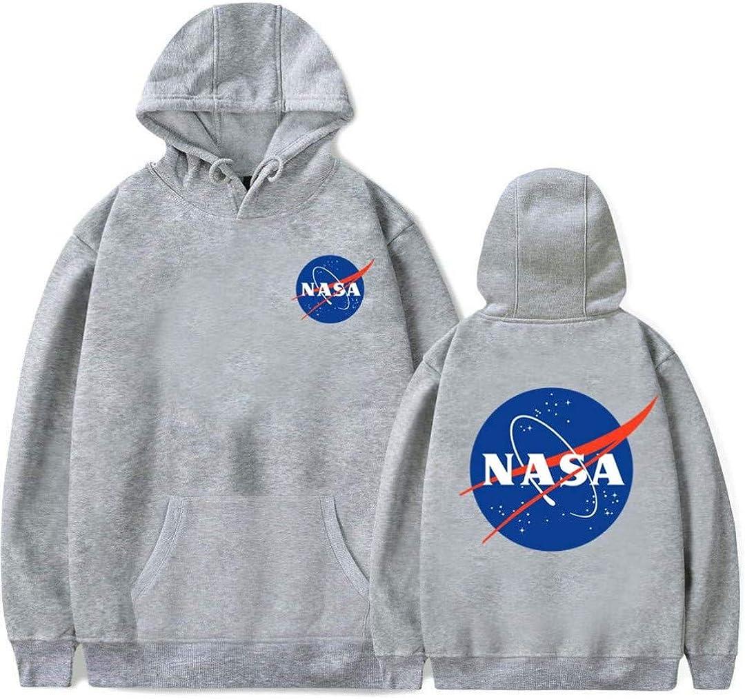 Silver Basic Kids NASA Circle Rocket Pullover Girocollo Felpa con Cappuccio Unisex