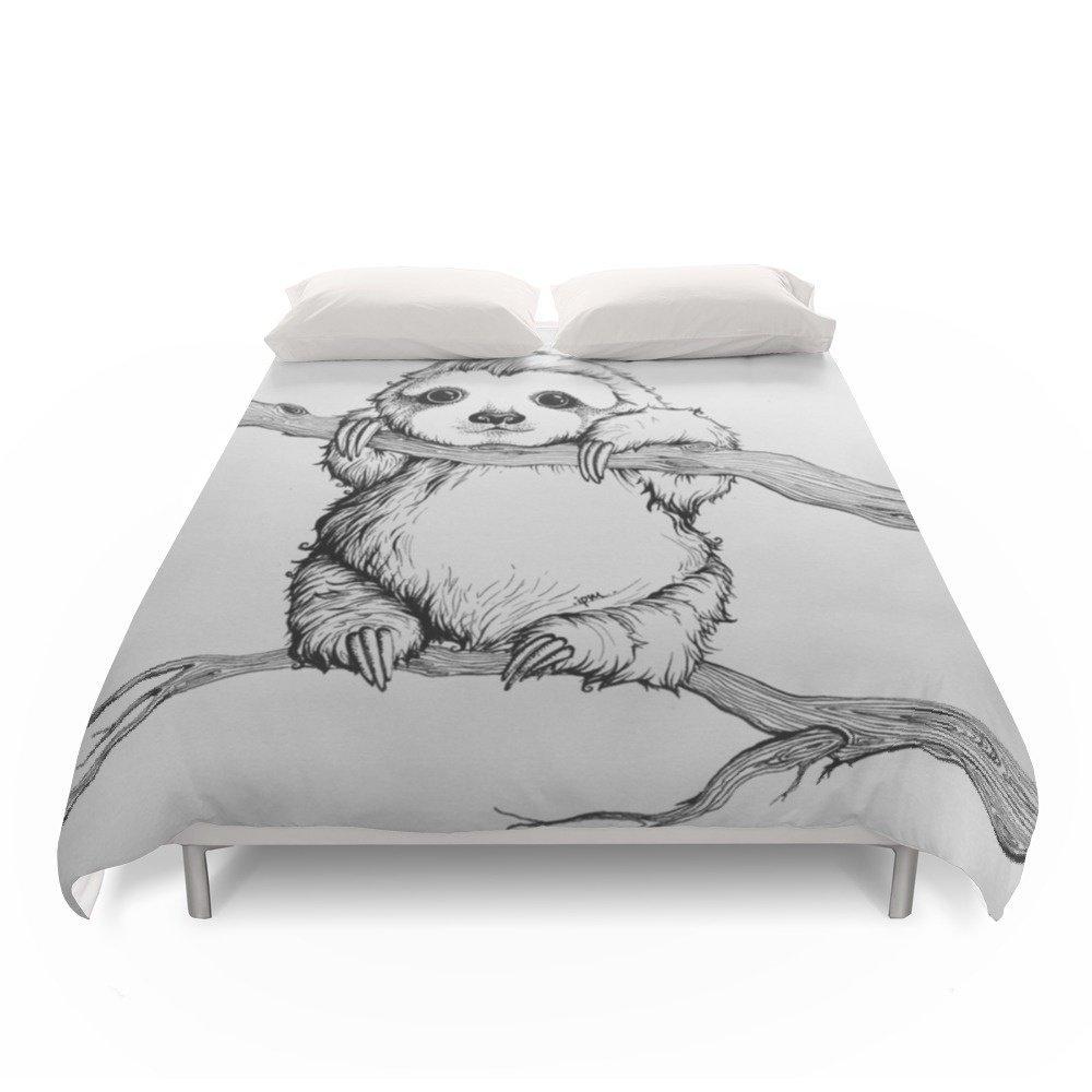 Society6 Baby Sloth Duvet Covers Full: 79'' x 79''