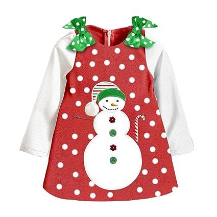 Niñas Navidad / Año Nuevo Faldas Monigote de nieve Vestido largo Falda festiva Trajes Ropa para