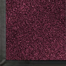 Andersen 871 Impressionist Olefin Fiber Interior Floor Mat, Non-Woven Polyester and Vinyl Backing, 6\' Length x 3\' Width, Burgundy