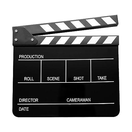 ciak cinematografico  Ciak Cinematografico E-IMAGE acrilico nero con strisce nere e ...