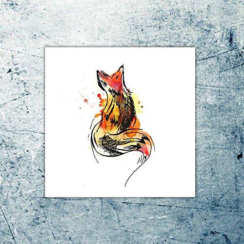 Tempor/äres Tattoo Fuchs