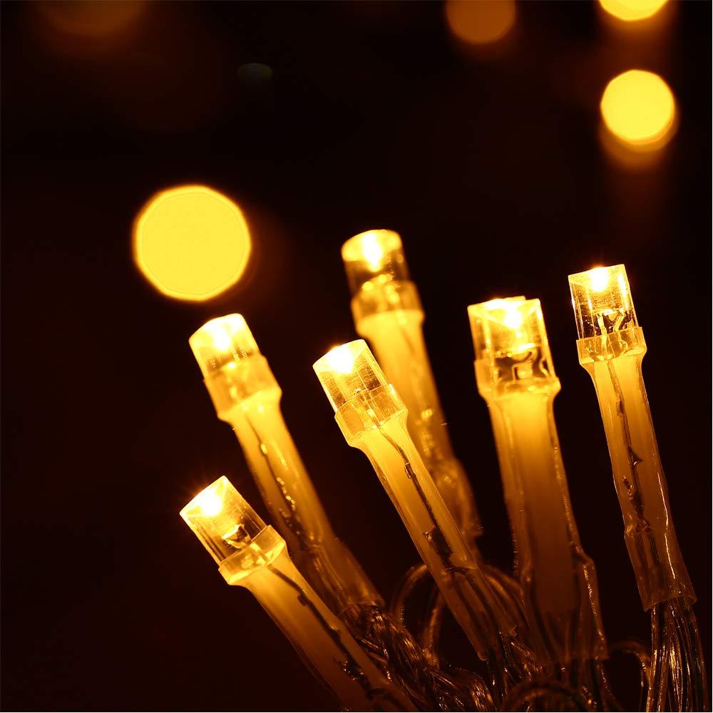 HAYATA 200 LED Batterie Lichterketten - 20m Weihnachtsbeleuchtung ...