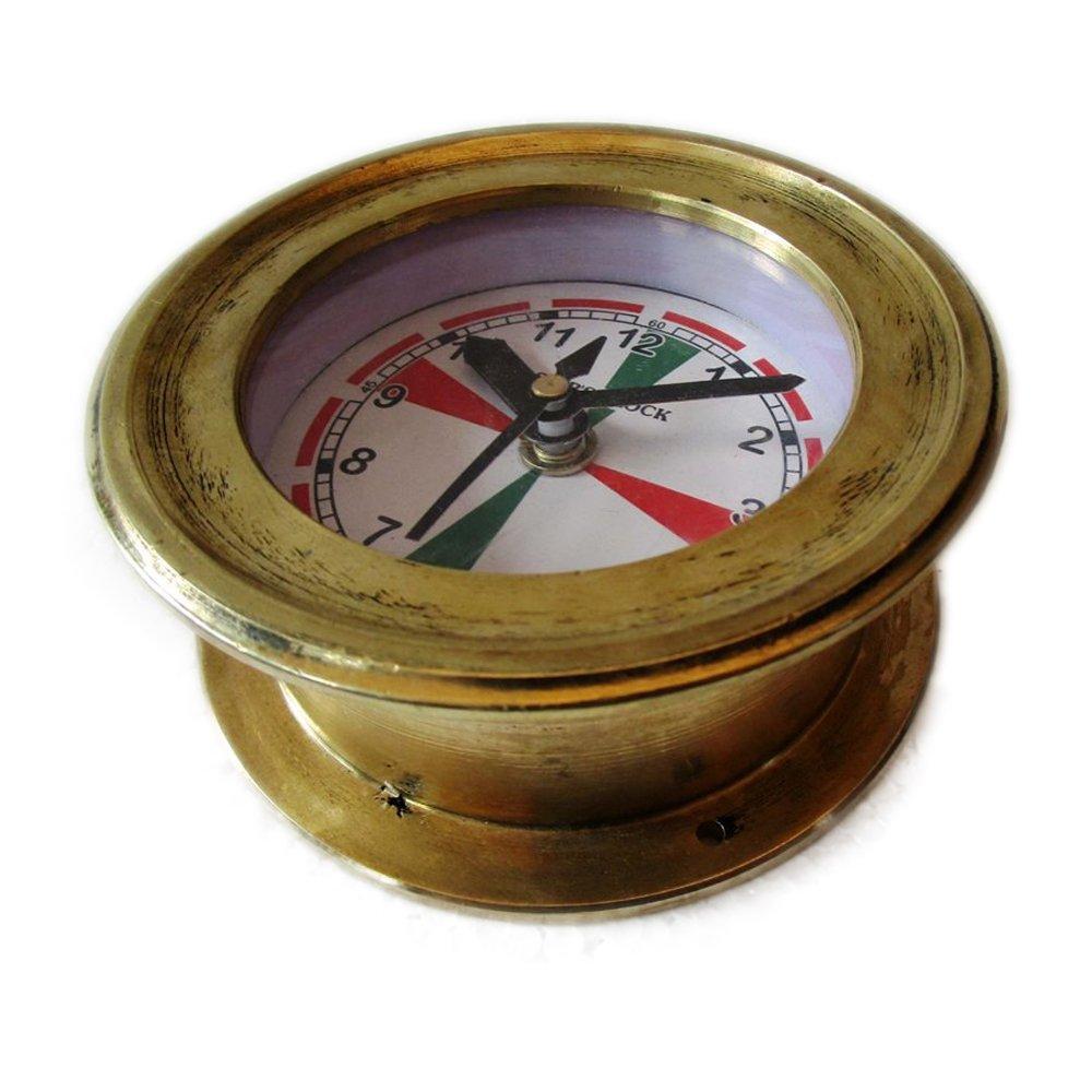 Brass Blessing SHIP'S Nautical Clock – Marine RADIO ROOM Clock – BRASS - Boat/Maritime/Naval (5010A)