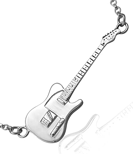 Jewellery-Joia Sterling Silver Fender Telecaster Miniature ...