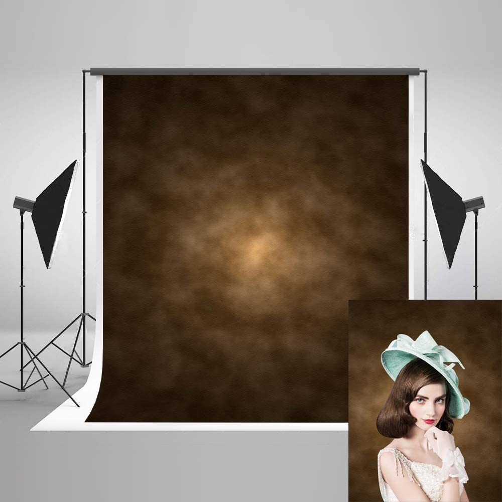 6.5x10ft Abstract Photography Backdrops Dark Brown Photo Background Portrait Microfiber Soft Fabric Backdrop for Photoshoot